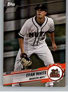 2019 Topps Pro Debut MiLB Leaps and Bounds #LB-EW Evan White Modesto Nuts Official MiLB Baseball Card