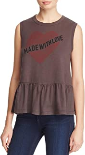 Womens Made with Love Tank Slogan T-Shirt