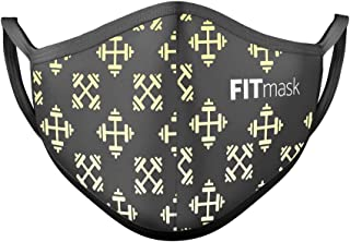 FITmask Mascarilla Reutilizable Lavable Certificada Tejido Hidrófugo Made in Spain Gym Edition - Adulto Orejera - L