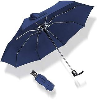 自動ミニポケット傘雨5Foldingアンチ紫外線吸収アルミ合金の防水ポータブル超軽量、ブルー