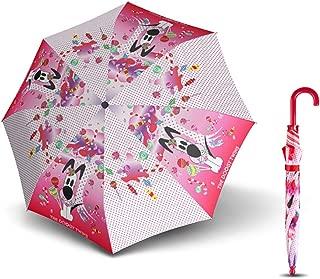 Sun Umbrella Cane Umbrella Weatherproof Umbrella Light Portable Cartoon Umbrella MJZDD (Color : Pink)