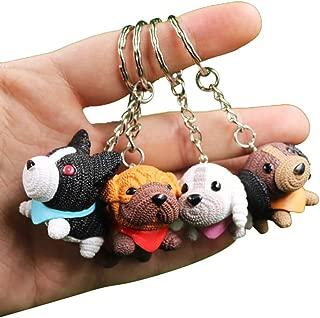 CRIZAN Cute Animal Keychain Key Ring Handbag Bag Charm Car Cell Phone Decor Ornament