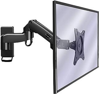 """Invision Support Mural Moniteur pour PC et TV – Écrans de 17 à 27"""" – Bras Ergonomique Ajustable avec Inclinaison et Pivot ..."""