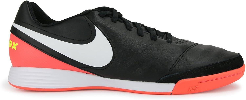 Nike Men's Tiempox Genio II Indoor schuhe schwarz Weiß Hyper Orange Volt Soccer schuhe - 11A B06XGXQTYQ  Günstig