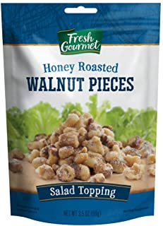 Fresh Gourmet Glazed Walnut Pieces, Honey Roasted, 3.5 Ounce (Pack of 9)