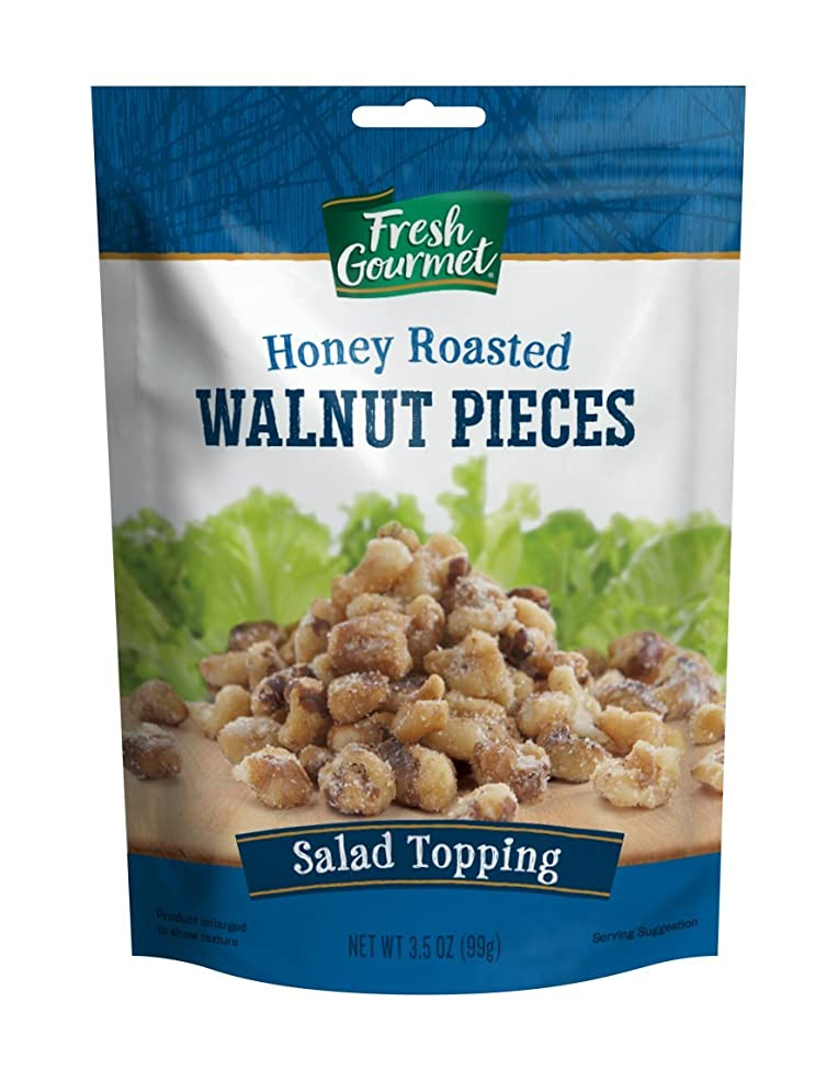 Fresh Gourmet Walnut Pieces, Glazed, 3.5 Ounce (Pack of 9)