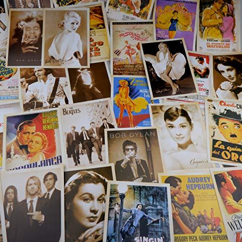32 Blatt Postkarten,Postkarten Set,Vintage Postkarten,Altmodische Alte Europäische Gebäude. Poster-Reisepostkarten(14X10 CM)(klassischer Film)