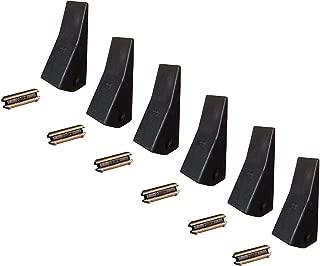 6 Backhoe/Skid Bucket Teeth with pins - 23, 230, 230SP, D51750, TF23D
