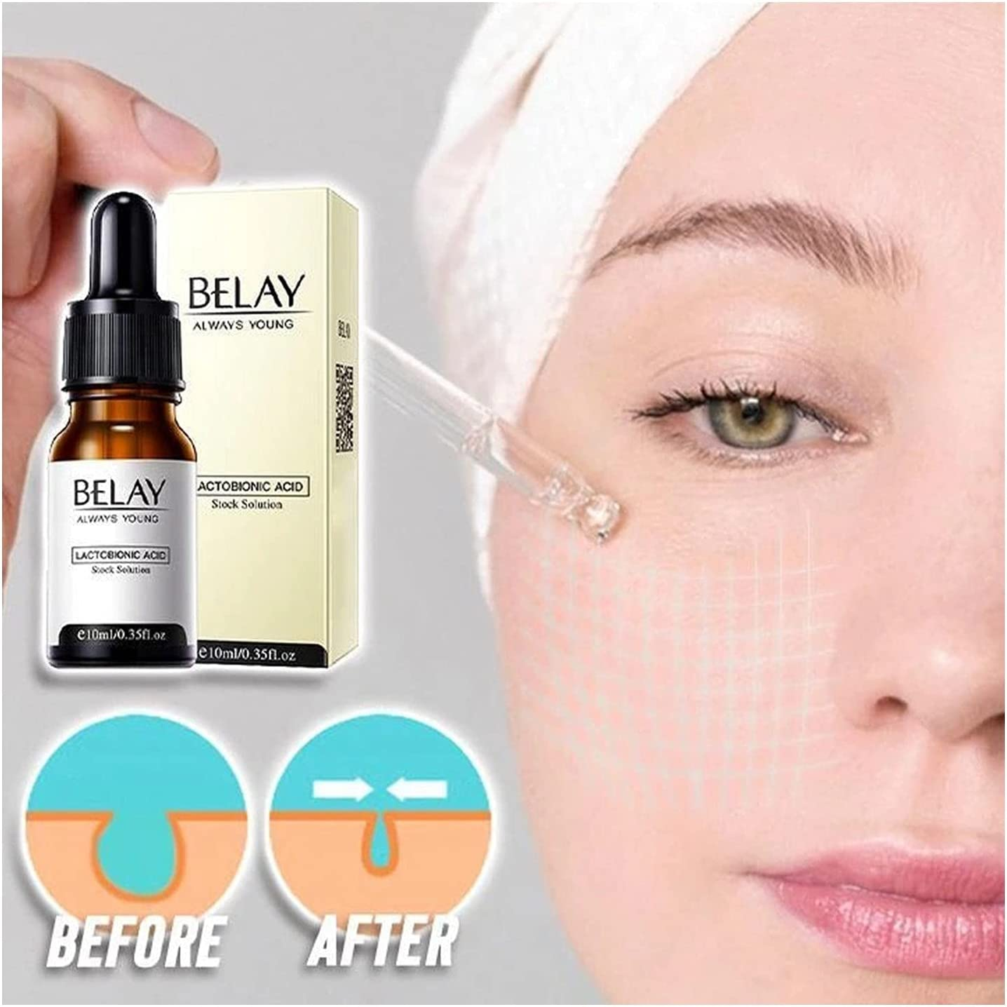 HANBOLI Facial Serums Max 63% OFF Wrinkles Wholesale Essence Pore Insta 2021 Zero New