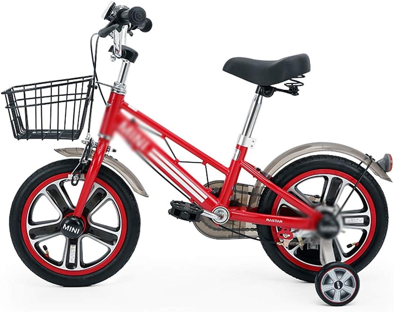 los últimos modelos Lkk Bicicleta Estudiante Bicicleta Niño Bicicleta Bicicleta Bicicleta niña Bicicleta Bicicleta Amortiguador de 14 Pulgadas, con Cesta Puede ser instalada Rueda Auxiliar (Color   rojo, Talla   98  41  71CM)  Sin impuestos