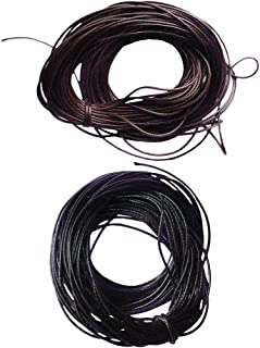 HOMYL 2 Pieces 10 Meters Waxed Cotton Cord String for Jewelry Making DIY Craft 1mm