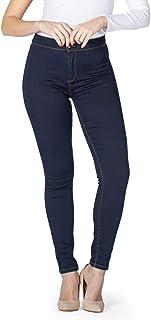 MAMAJEANS Jeggings Donna a Vita Alta, Jeans Comodo in Cotone Ultra Elasticizzato, Skinny Fit - Made in Italy