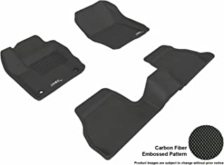 3D MAXpider Complete Set Custom Fit All-Weather Floor Mat for Select Ford Focus Models - Kagu Rubber (Black)