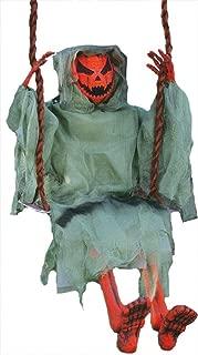 Lonestar Wholesalers 36-inch Halloween Pumpkin Swinging Dead Scary Party Decoration Prop