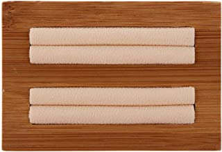 F Fityle Solid Wood Jewelry Display Tray with Microfiber Flat Bangle Bracelet Holder - Beige, 9.5 x 6.4 x 2cm