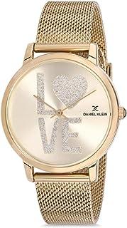 Daniel Klein Trendy Alloy Case Mesh Band Ladies Wrist Watch - Dk.1.12403-5, gold