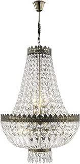 Worldwide Lighting W83084B16 Metropolitan 6 Light Mini Chandelier, Antique Bronze Finish and Clear Crystal, 16
