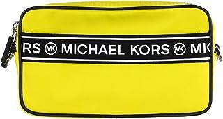 Michael Kors Logo Sport Kenly Small Double Zip Nylon Camera Crossbody Bag - Bright Yellow