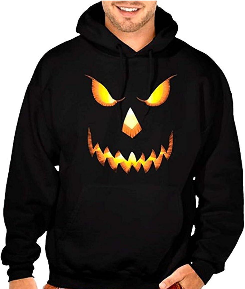 Happy Halloween Pumpkin Man Sweatshirt Scary Spooky Jumper Cool Haunted Gift FC