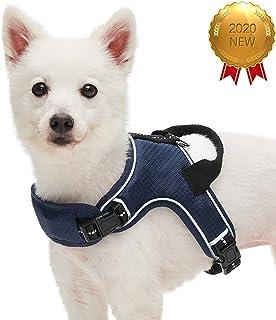 UMI. Essential - Arnés Tipo Chaleco antitirones Ajustable para Perros con Bandas Reflectantes, Talla L, Azul Marino