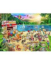Cuteefun Legpuzzel voor Volwassenen 1000 Stukjes Vakantie Kamp Puzzel Landschap Legpuzzel voor Kinderen Decompressie Cadeau