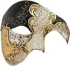 Luxury Mask Men's Phantom of The Opera Half Face Masquerade Mask Vintage Design