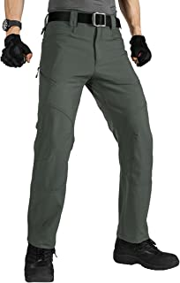 FREE SOLDIER Men's Military Tactical Pants Outdoor Nylon Ripstop Work Trousers with Zipper Pockets