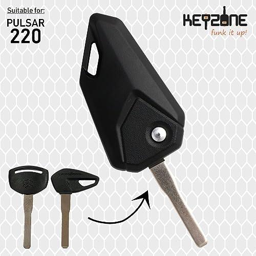 KEYZONE Flip Key for Bajaj Pulsar 220 (Black)