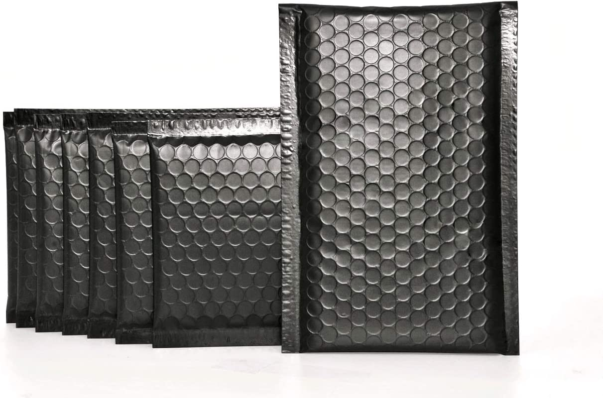 Inventory cleanup selling sale ProLine Matte Metallic Black Many popular brands Bubble Padded 4x8 Inch Mailers Self
