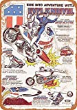 McC538arthy Tin Signs Metal Sign 1977 Evel Knievel Toys Holiday Vintage Poster Metal Plaques for Funny Wall Decoration Art Sign Gifts for Christmas - 8x12