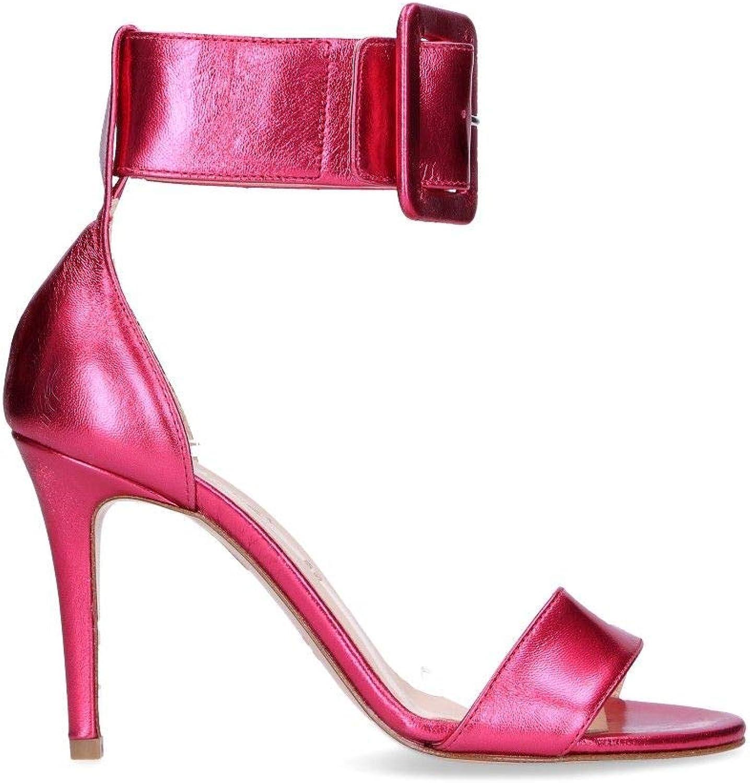 DI LUNA Women's 9057FFUCSIA Fuchsia Leather Sandals