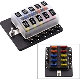Portafusibile Blade Aramox Blocchetto Portafusibili per Carri Stereo ANL Car Audio Blocchetto Portafusibili 4 4A Fusibile a Cassetta 4A 30A 60A