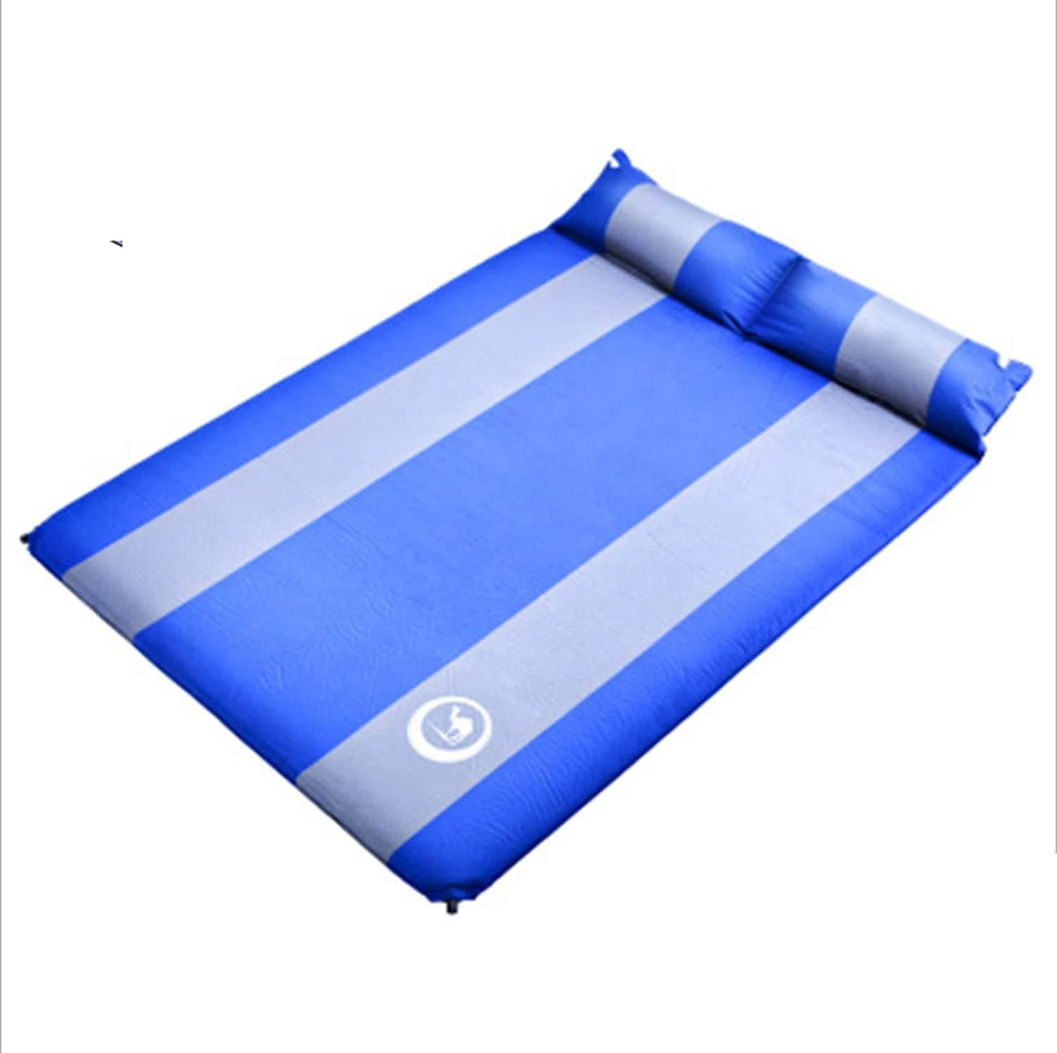 Inflatable Sleeping Mat 3.5cm Thick Water&Moisture Proof Camping Mattress with Pillow and Repair Patch for Camping,Hiking,Travelling,Backpacking