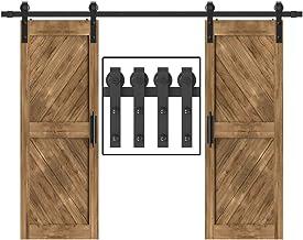 Winsoon 5-18FT Sliding Barn Wood Door Hardware Cabinet Closet Kit Antique Style for..