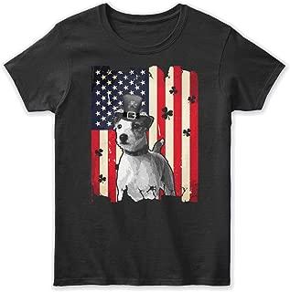 Parson Russell Terrier Dog Flag st patri Tshirt - Gildan Women's Relaxed Tee