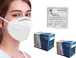 sacre solutions Cubrebocas KN95 40 Piezas Certificado con empaque individual, tapabocas de 5 capas con ajuste nasal ocult...