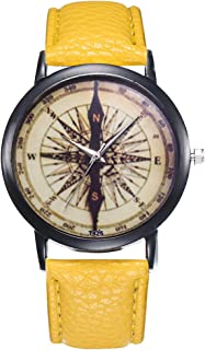 Female Watch for Small Wrist,Women Watches,Stainless Steel Watches for Women,Roman Numerals Watch Women (Yellow)