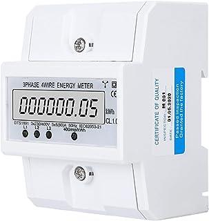 Energiemeter 3 fase 4 draad LCD digitaal display DTS1891 Smart Home elektrisch meetapparaat 14.3oz