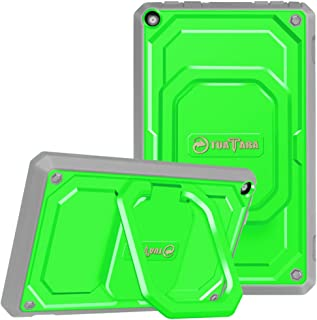 Fintie Shockproof Case for All-New Amazon Fire HD 8 (7th and 8th Generation Tablets, 2017 and 2018 Releases) - [Tuatara Magic Ring] [360 Rotating] Multi-Functional Grip Stand Carry Cover, Green