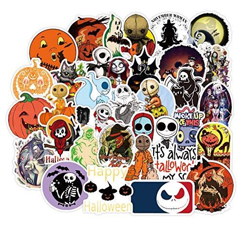 Pegatinas divertidas y creativas para Halloween con cabeza...