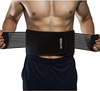 ZSZBACE Waist Trimmer Belt, Upgraded Weight Loss Ab Belt, Stomach Fat Burner Wrap,Adjustable and Breathable Waist Trainer ...