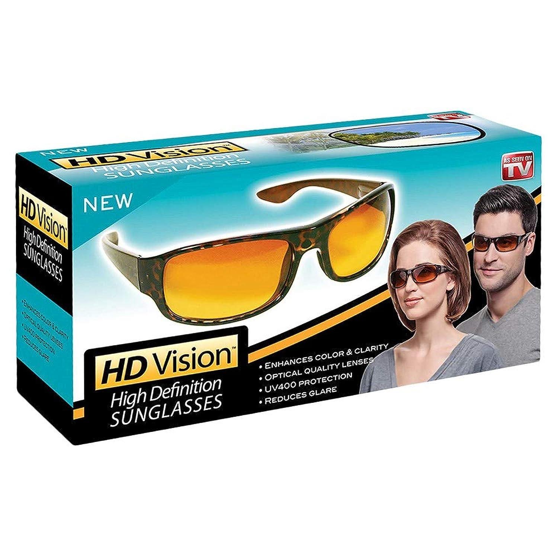 HD ビジョン ユニセックスサングラス ブラック