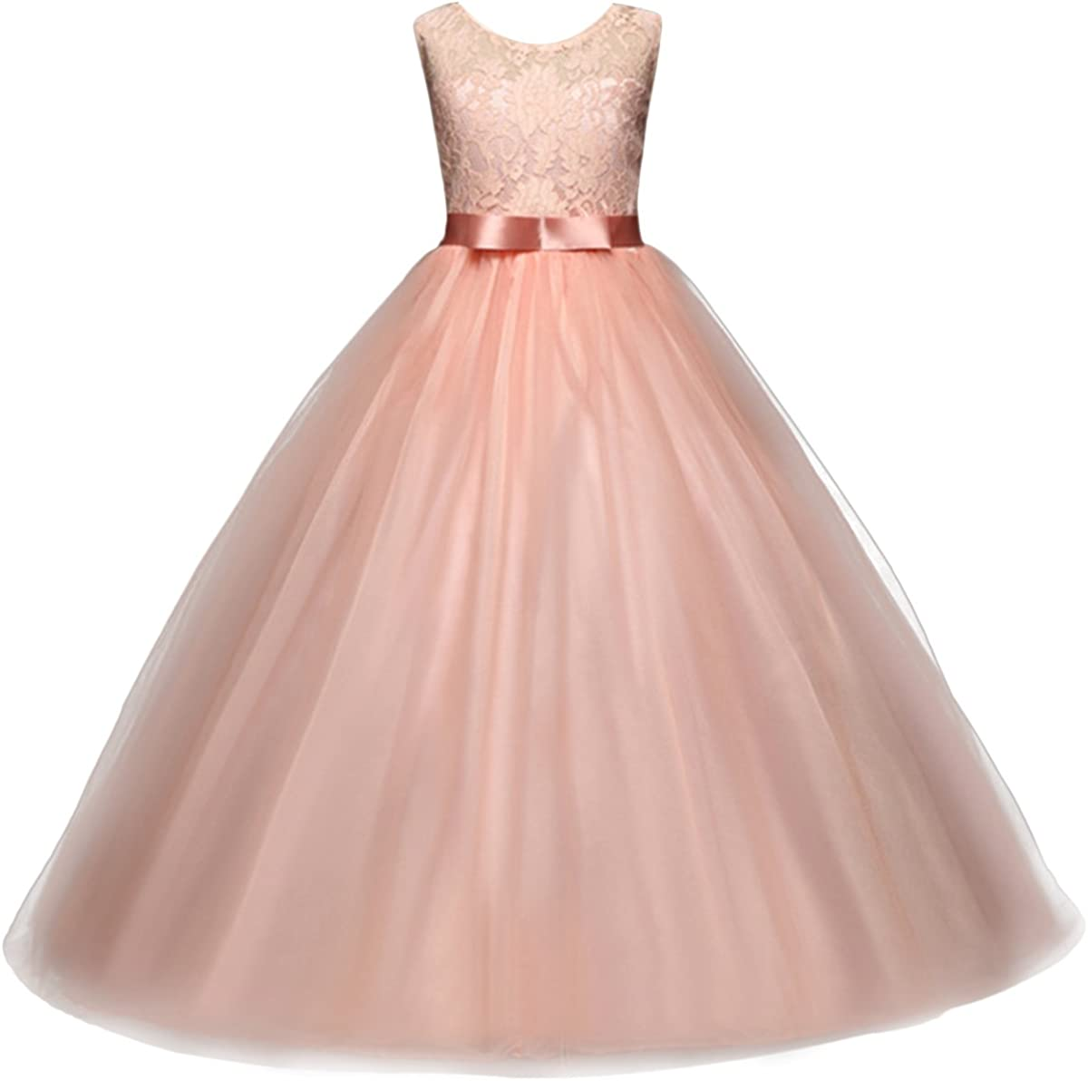 Big Girl Flower Lace Princess Store Tulle For Long Kids Prom for 4 years warranty Dress