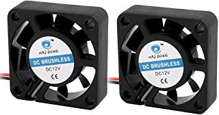 sourcingmap® 2pcs Ventilador de la carcasa negro de 40 x 40 x 10mm 12V 0.07A DC/disipador ventilador extractor