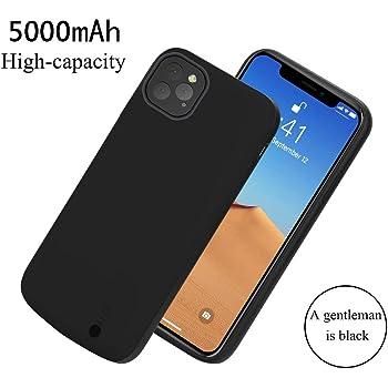 Cover iPhone 11 Pro Protezione Rigida 2 in 1 Batteria 5000mAh Nero