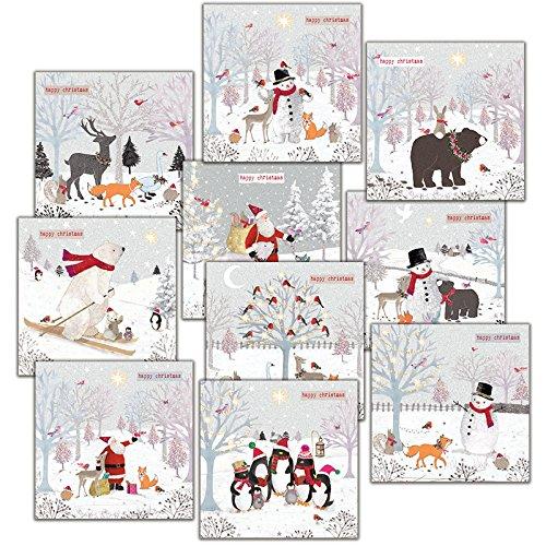 Hammond Gower Pubblicazioni AXP003cartolina di Natale (confezione da 10)