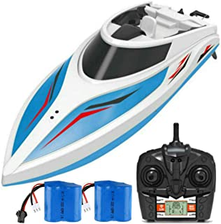Remote Control Boats for Pools and Lakes SkyCo Rc Boat for Kids or Adults, Outdoor Adventure Pool Toys, High Speed Remote Control Boat Toy for Boys and Girls BONUS Extra Battery