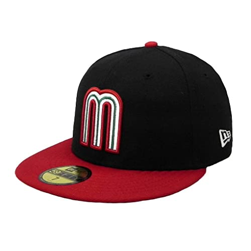 05e54166003 New Era 59fifty Fitted Hat Cap World Baseball Classic Mexico Black red