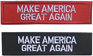 SOUTHYU 2 Pieces Tactical Morale Patches - Trump Make America Great Again Embroidered Military Army Gear Emblem Badge, Fastener Hook and Loop Patch