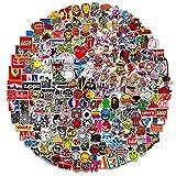 DRABALL ST-999 Divertenti per Bottiglie d'Acqua, Laptop, MacBook, Borsa da Viaggio, Bagagli, Auto, Bicicletta, Giovani estetici e alla Moda, Impermeabili, 400 Pezzi, 4 Adesivi, 1